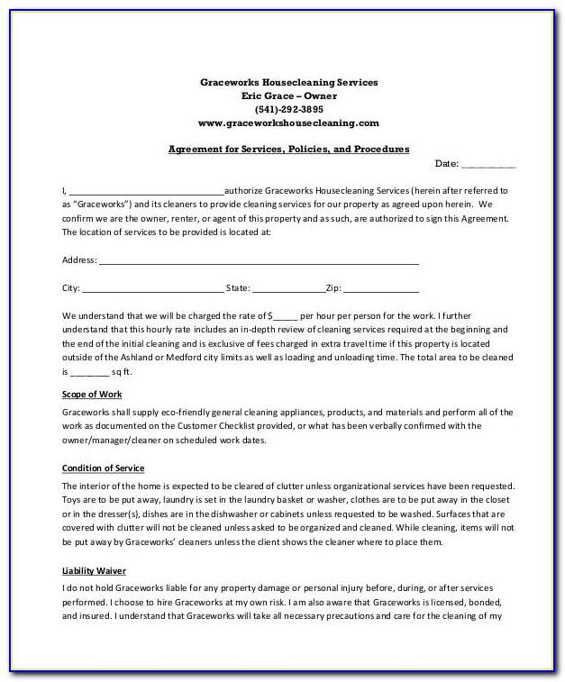 Commercial Cleaning Service Contract Template
