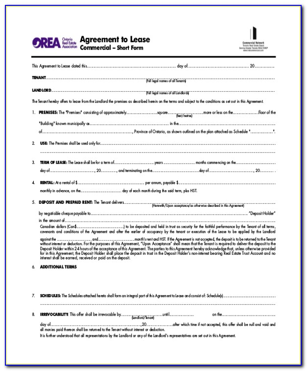 Commercial Lease Forms Nsw