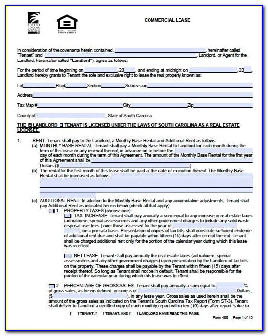 Commercial Lease Forms Ontario