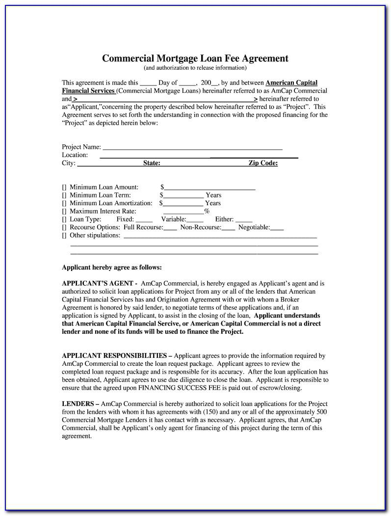 Commercial Loan Broker Fee Agreement Template