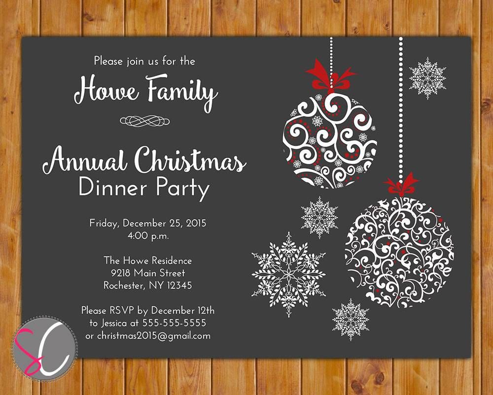 Company Christmas Party Invitation Templates Free