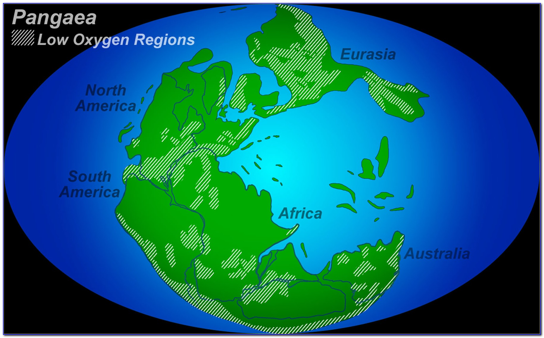 Compare Pangaea With World Map