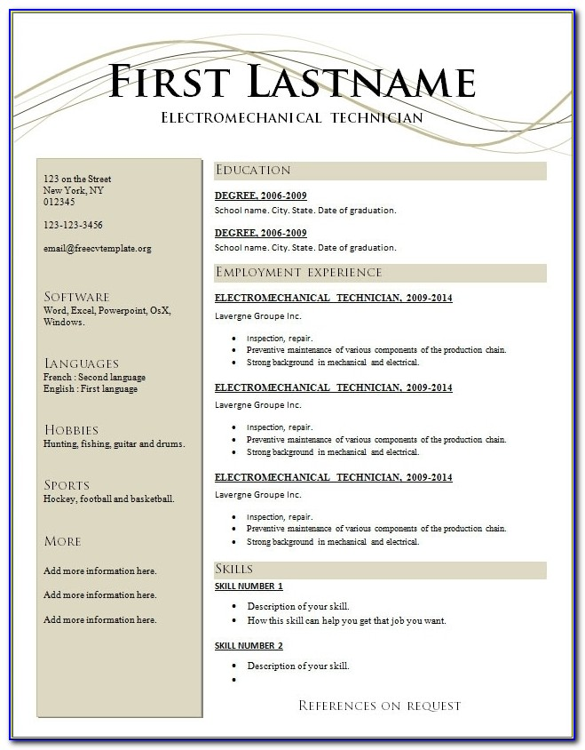 Totally Free Resume Templates Completely Free Resume Templates Completely Free Resume Maker Completely Free Resume Maker