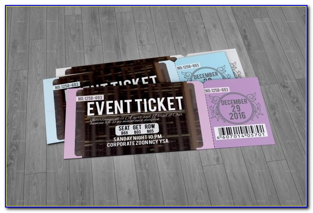 Concert Ticket Template Pdf