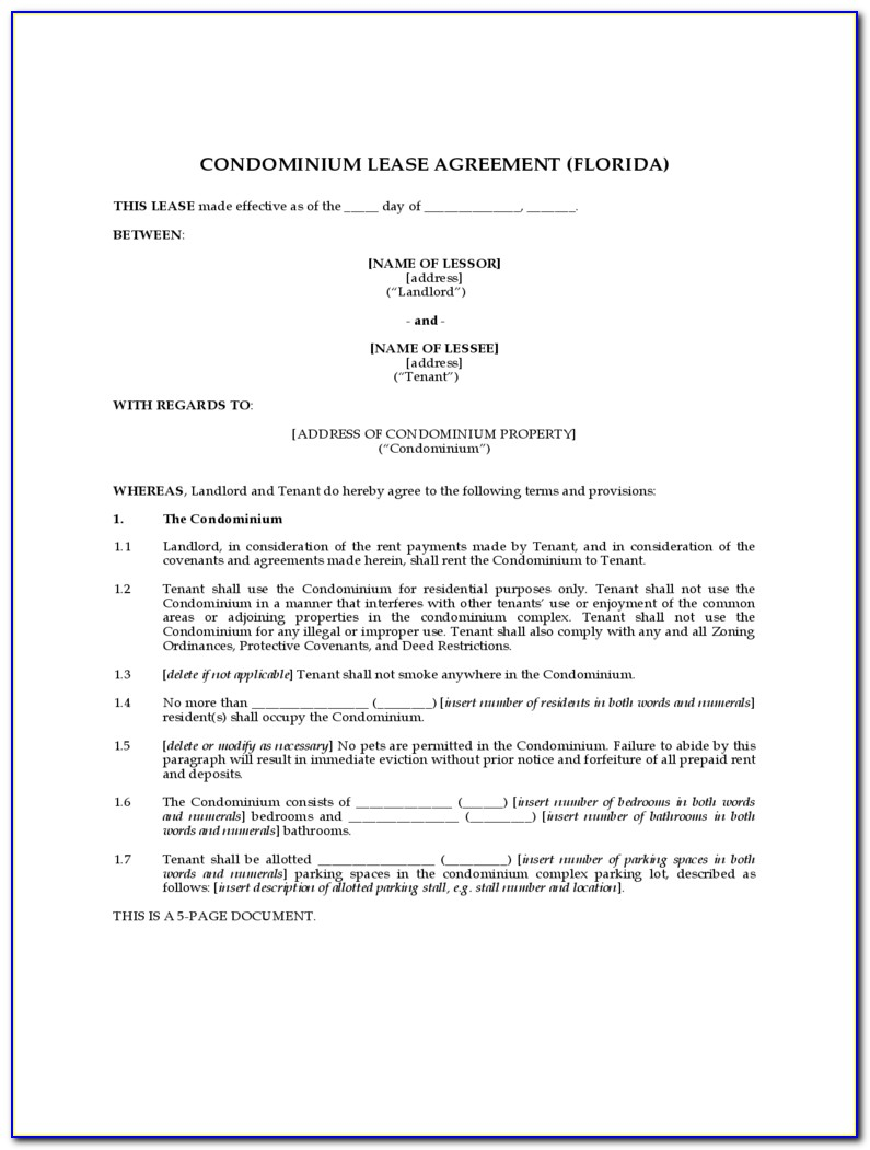 Condo Lease Renewal Form