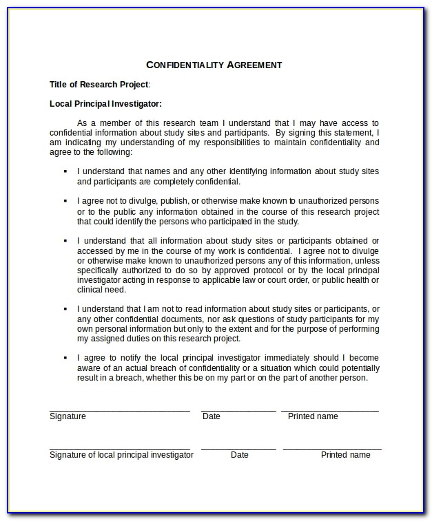 Confidentiality Agreement Template Uk