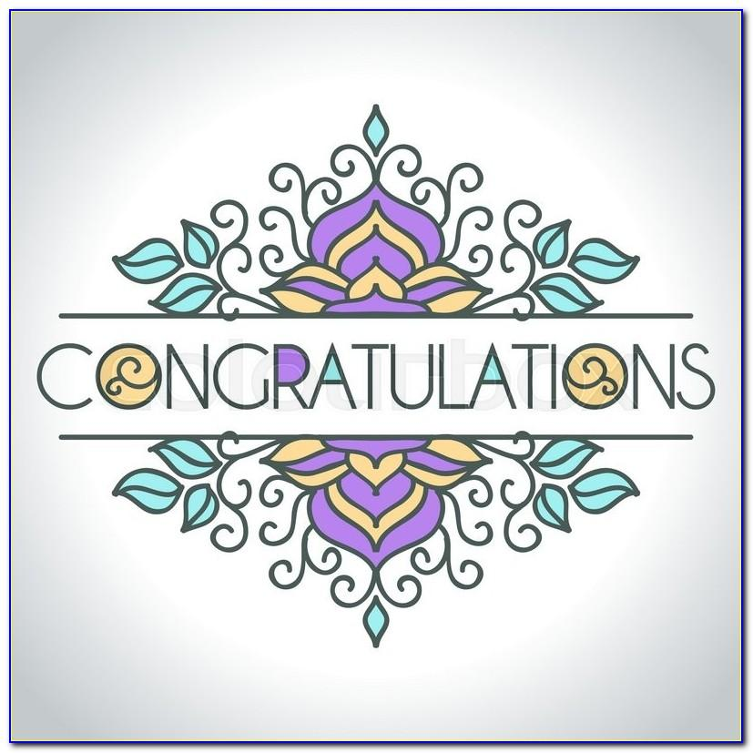 Congratulations Card Template Editable