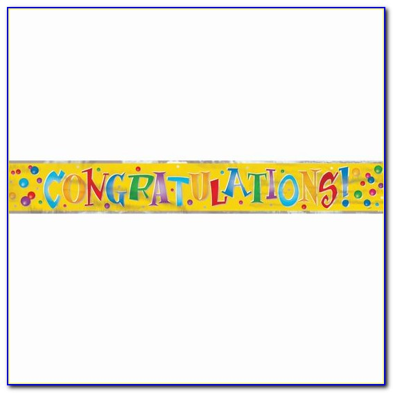 Congratulations Wedding Banner Template