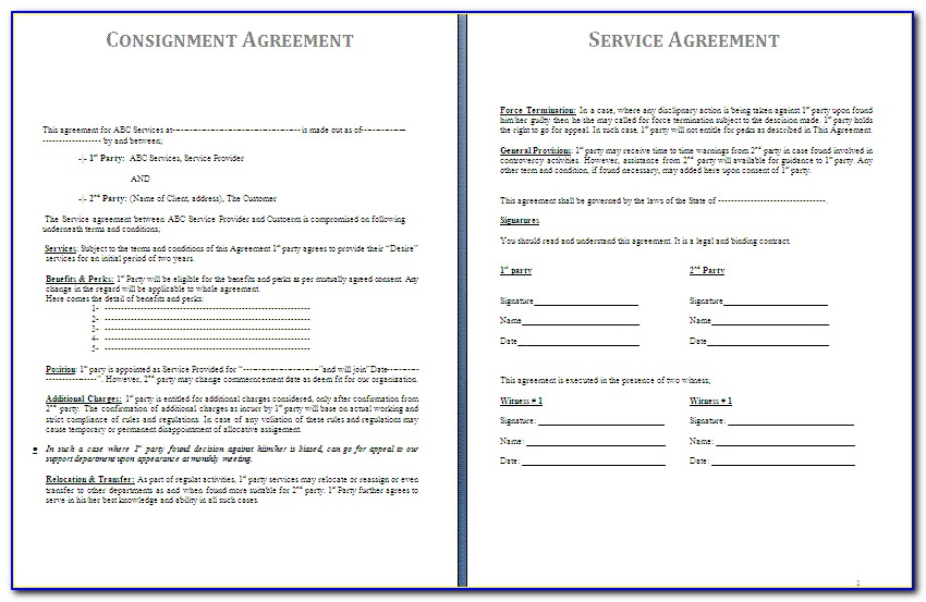 Consignment Contract Template Canada