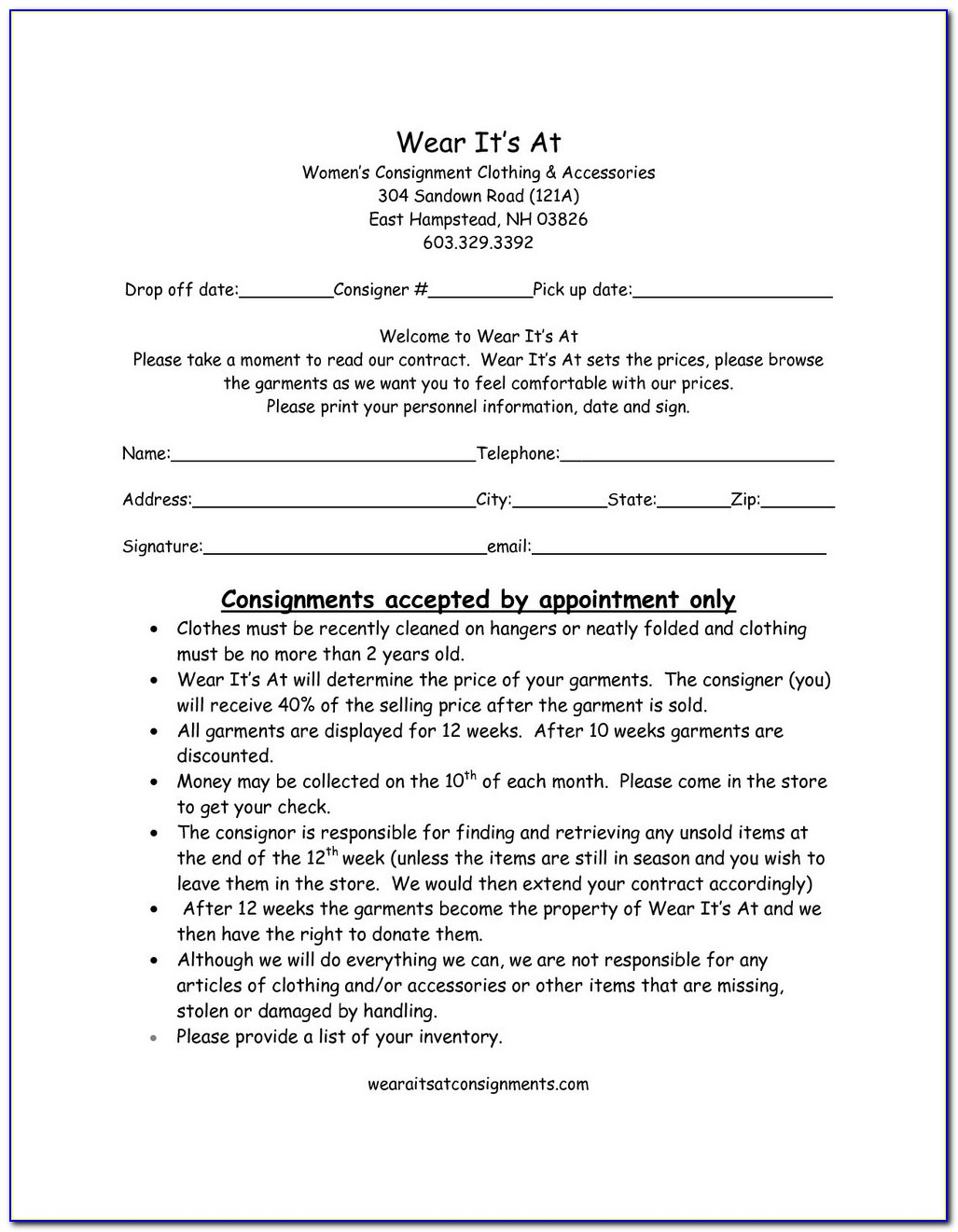 Consignment Stock Agreement Meaning