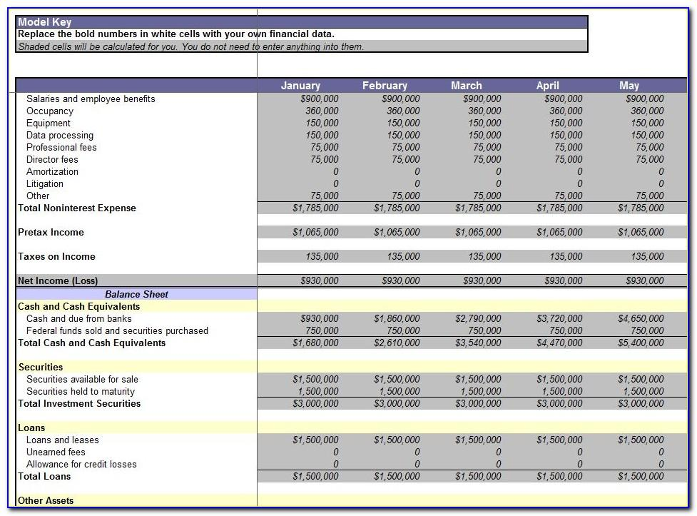 Consolidated Financial Statement Template Excel