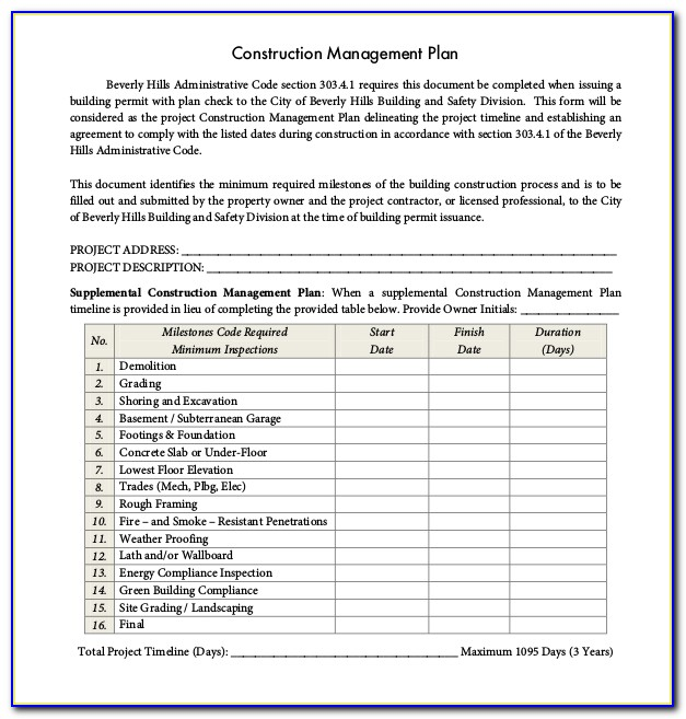 Construction Project Management Contract Download Forms Vincegray2014
