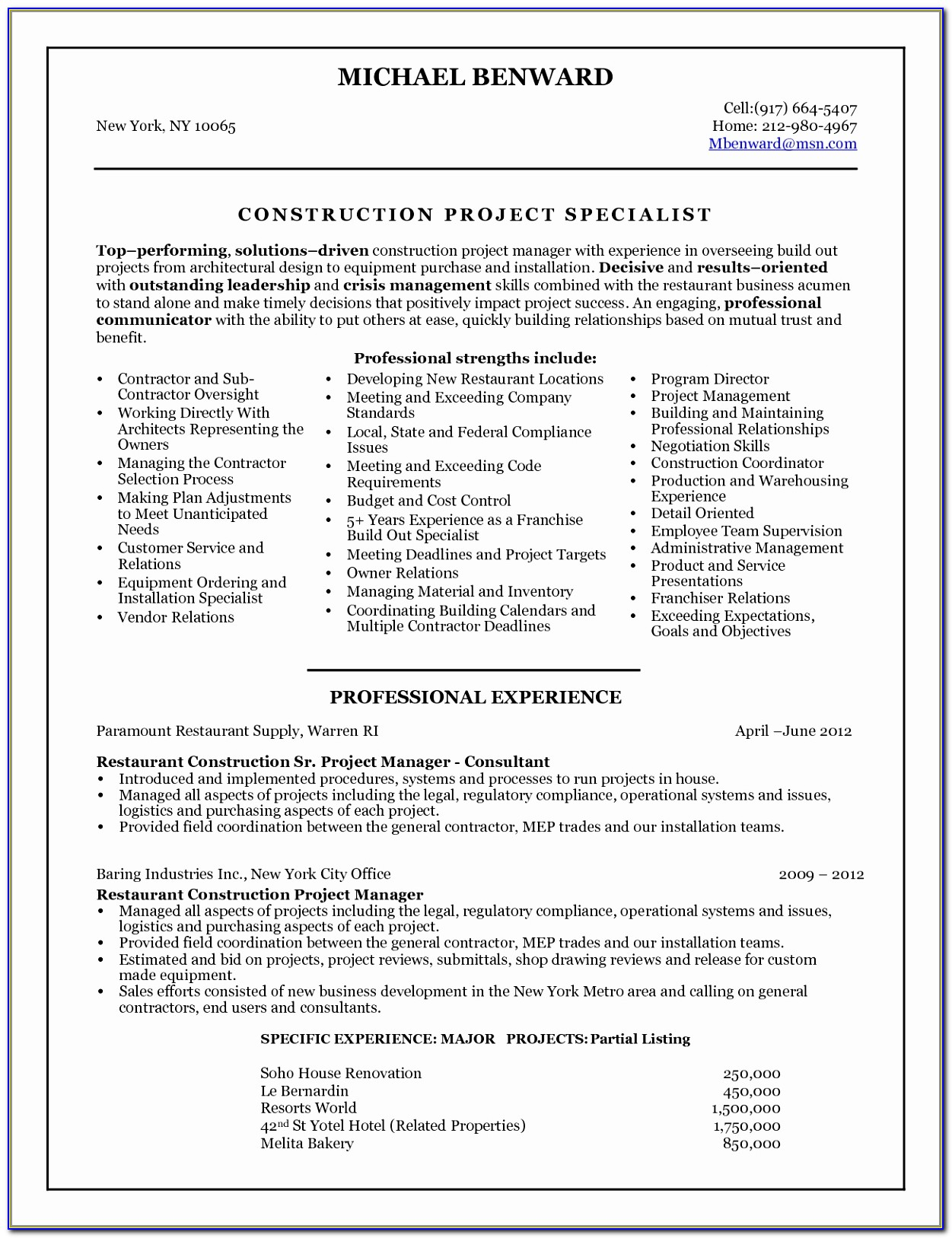 Free Construction Management Resume Templates Free Construction Project Manager Resume Templates Lovely Pdf Word Excel Templates Aoiyp