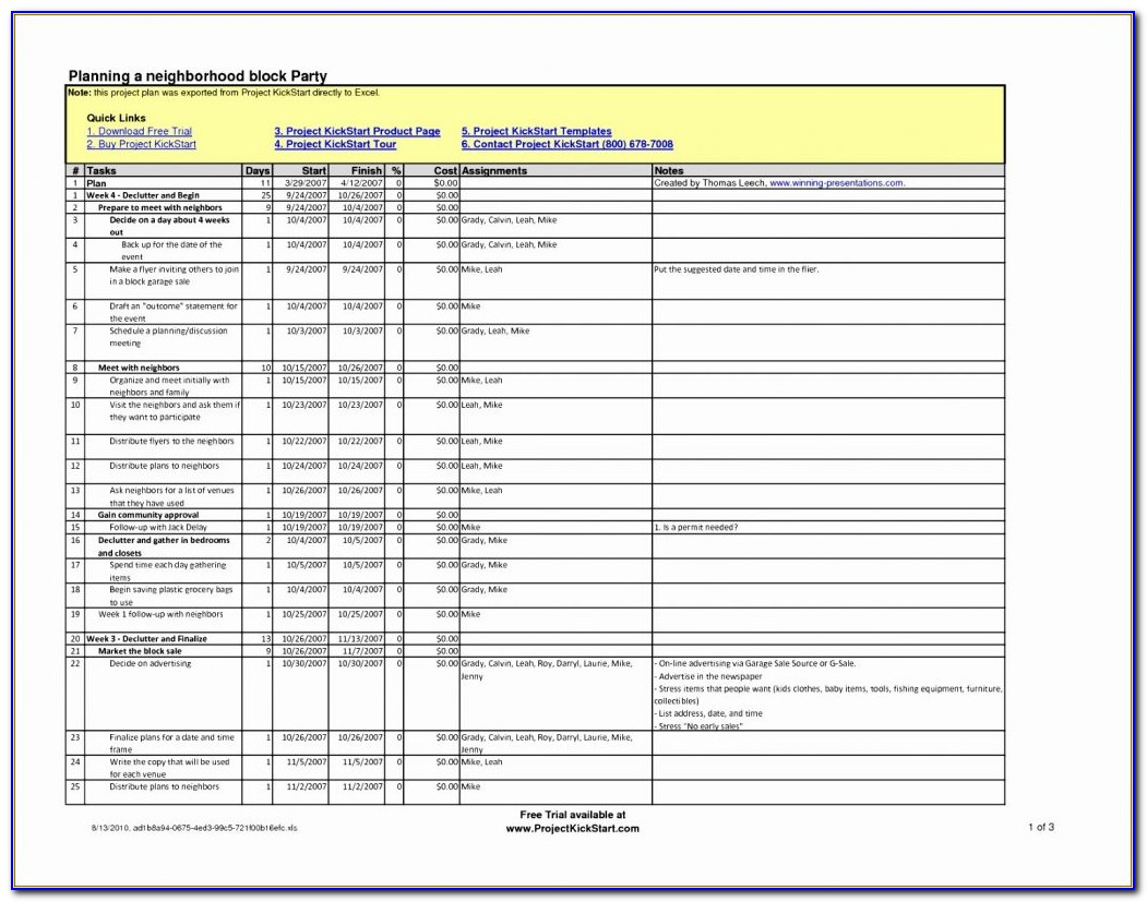 Construction Schedule Template Excel Download