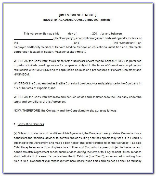Consultant Agreement Template Canada