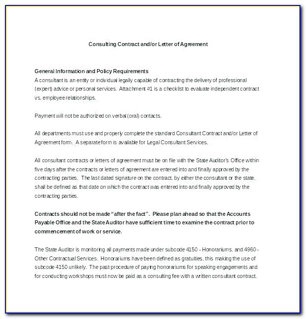 Consultant Retainer Contract Template