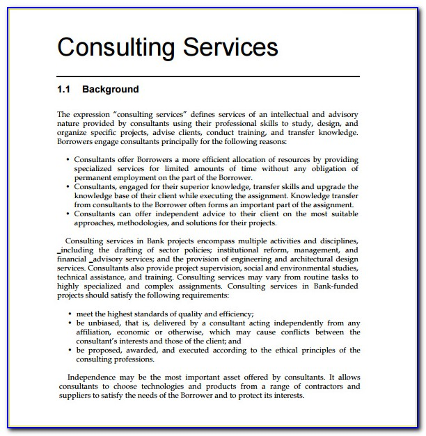 Consulting Proposal Template Free Download Vincegray2014