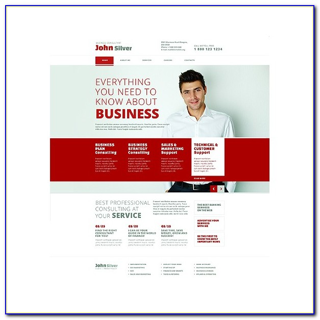 Consulting Website Template Free Download