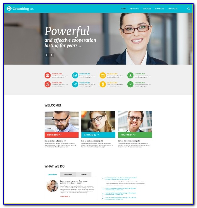 Consulting Website Template Free