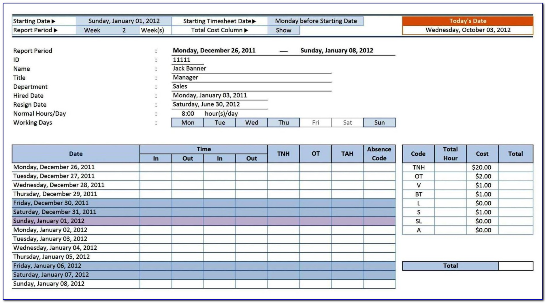 Contract Tracking Template