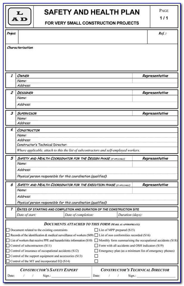 Contractor Safety Program Template
