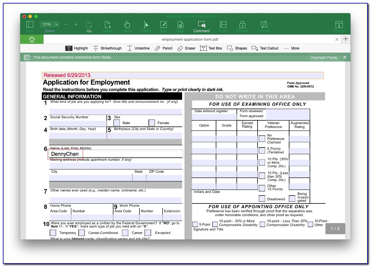 Convert An Existing Form Into A Fillable Pdf Form Online