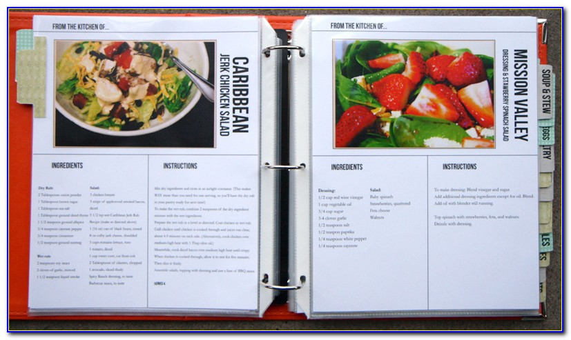 Cookbook Template For Word 2010