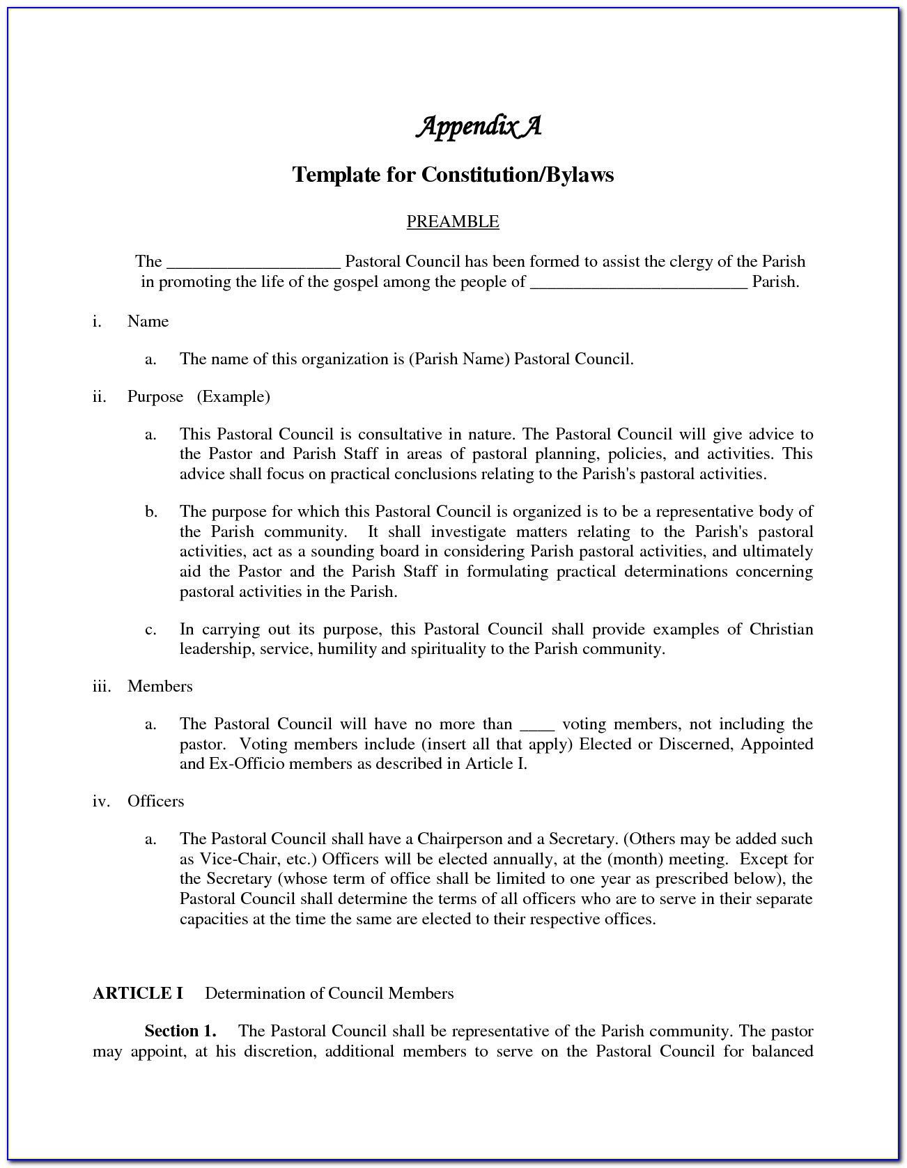 Corporate Bylaw Amendment Template