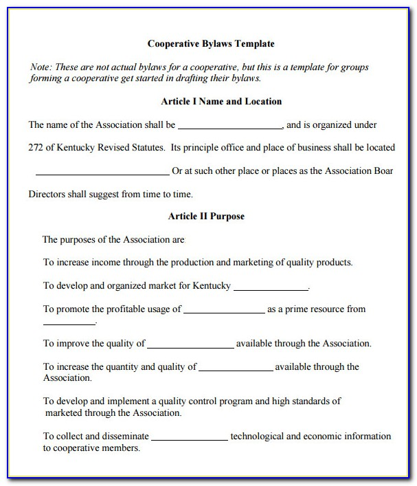 Corporate Bylaw Template