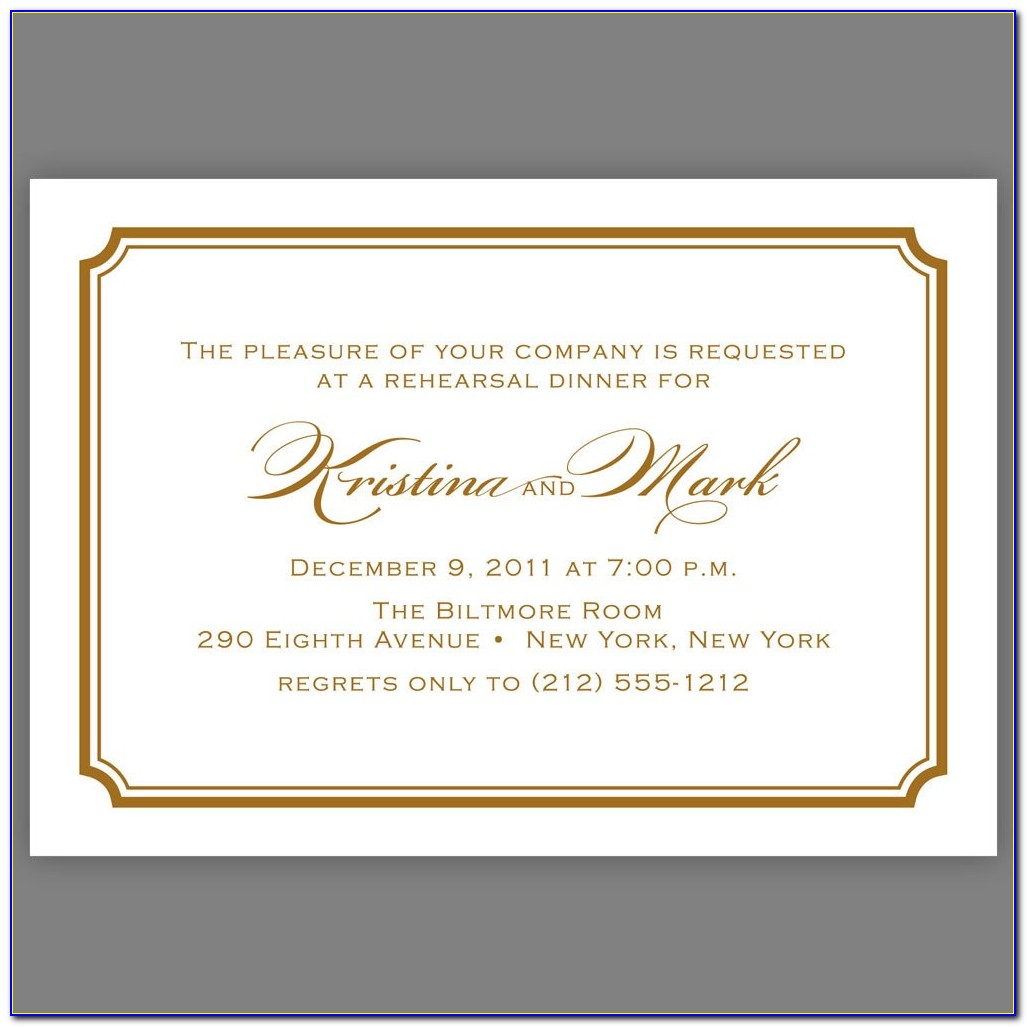 Corporate Dinner Invitation Wording