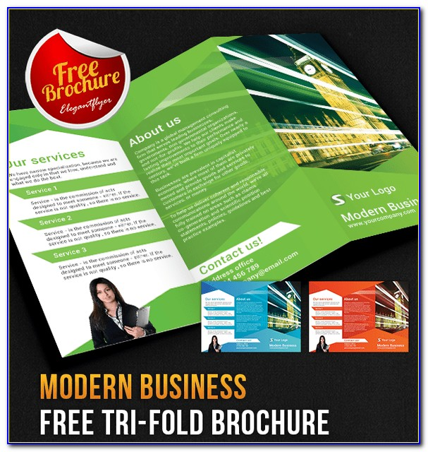 Corporate Tri Fold Brochure Template Free Download