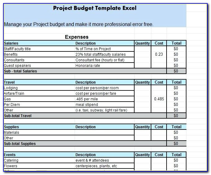 Cost Proposal Template Free