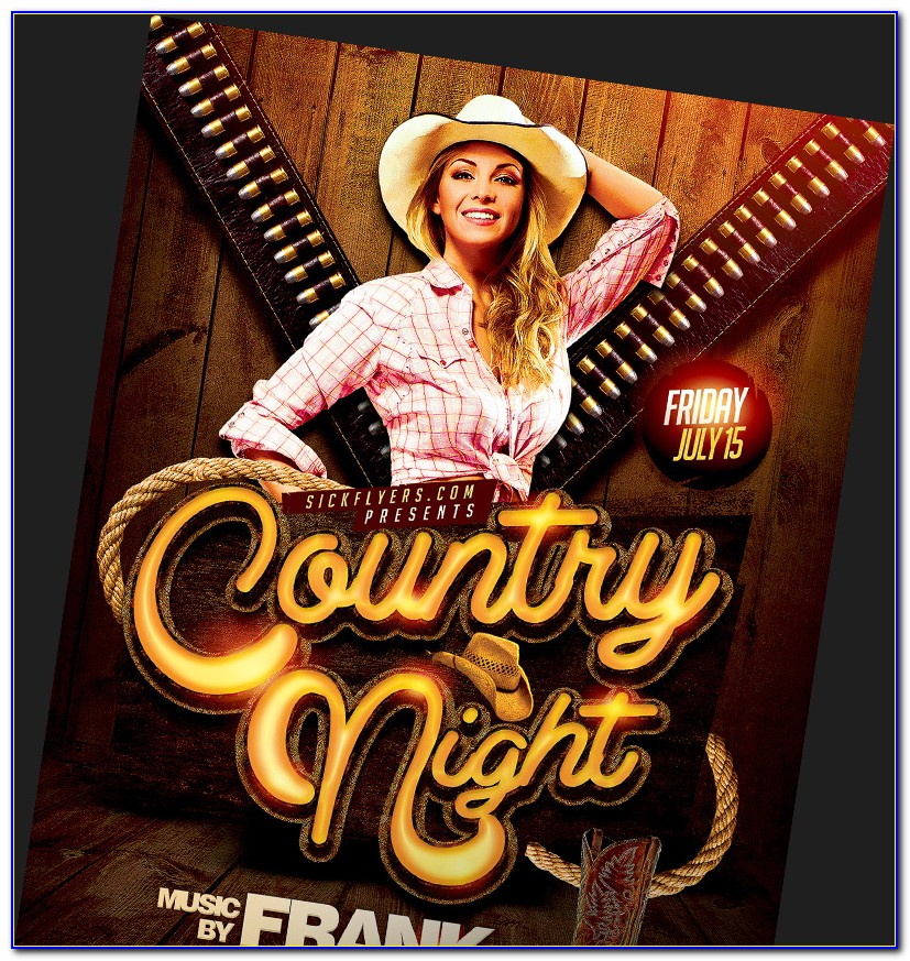 Country Western Flyer Template Free