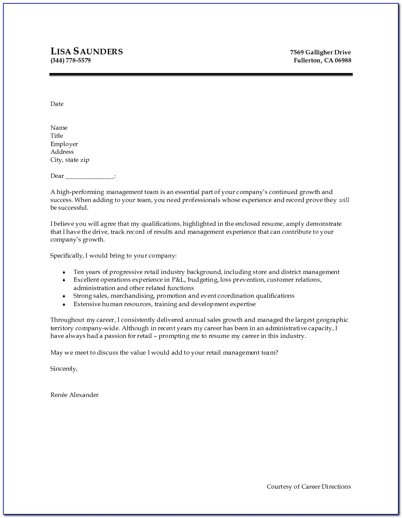 Free Basic Cover Letter Examples Customer Service Simple For
