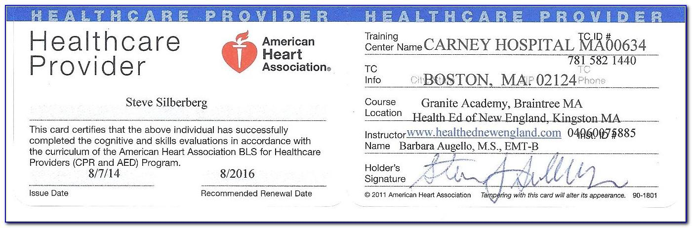 Cpr Card Template Word