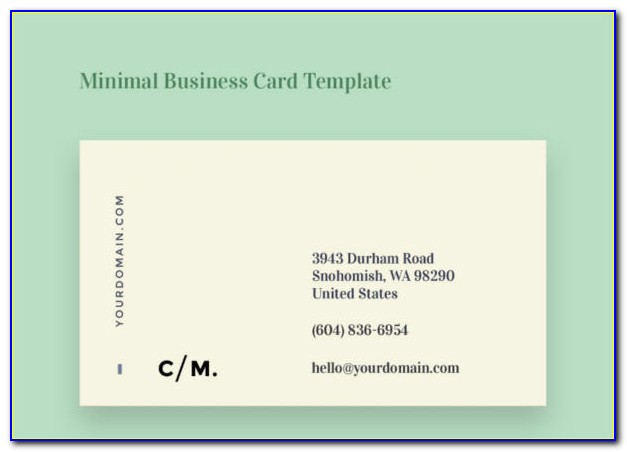 Create Double Sided Business Cards In Word