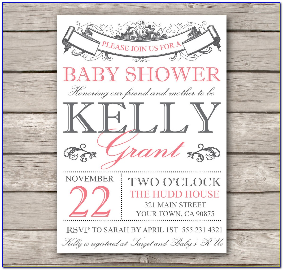 Create Electronic Baby Shower Invitations
