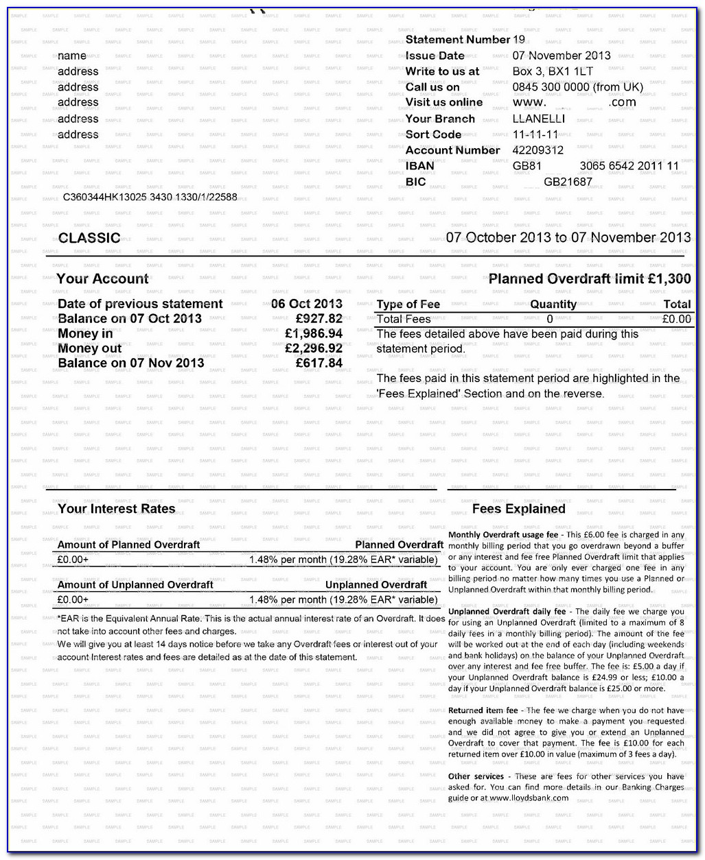 Create Fake Td Bank Statement Template