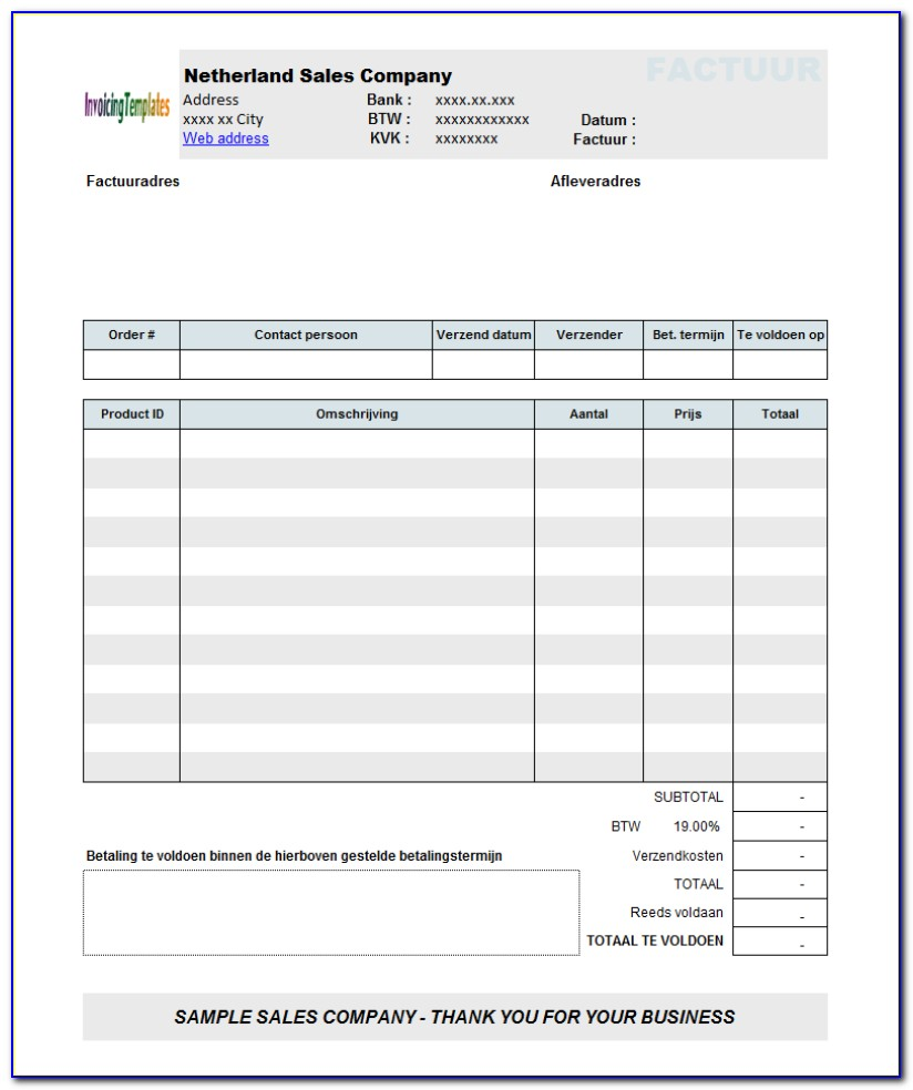 Create Invoice For Services Rendered