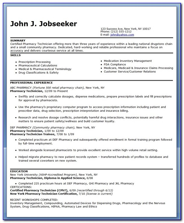 Create My Resume Pdf