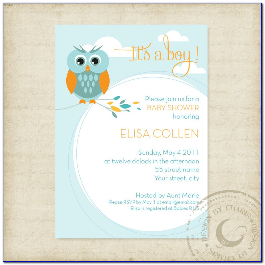 Create Online Baby Shower Invitations Free