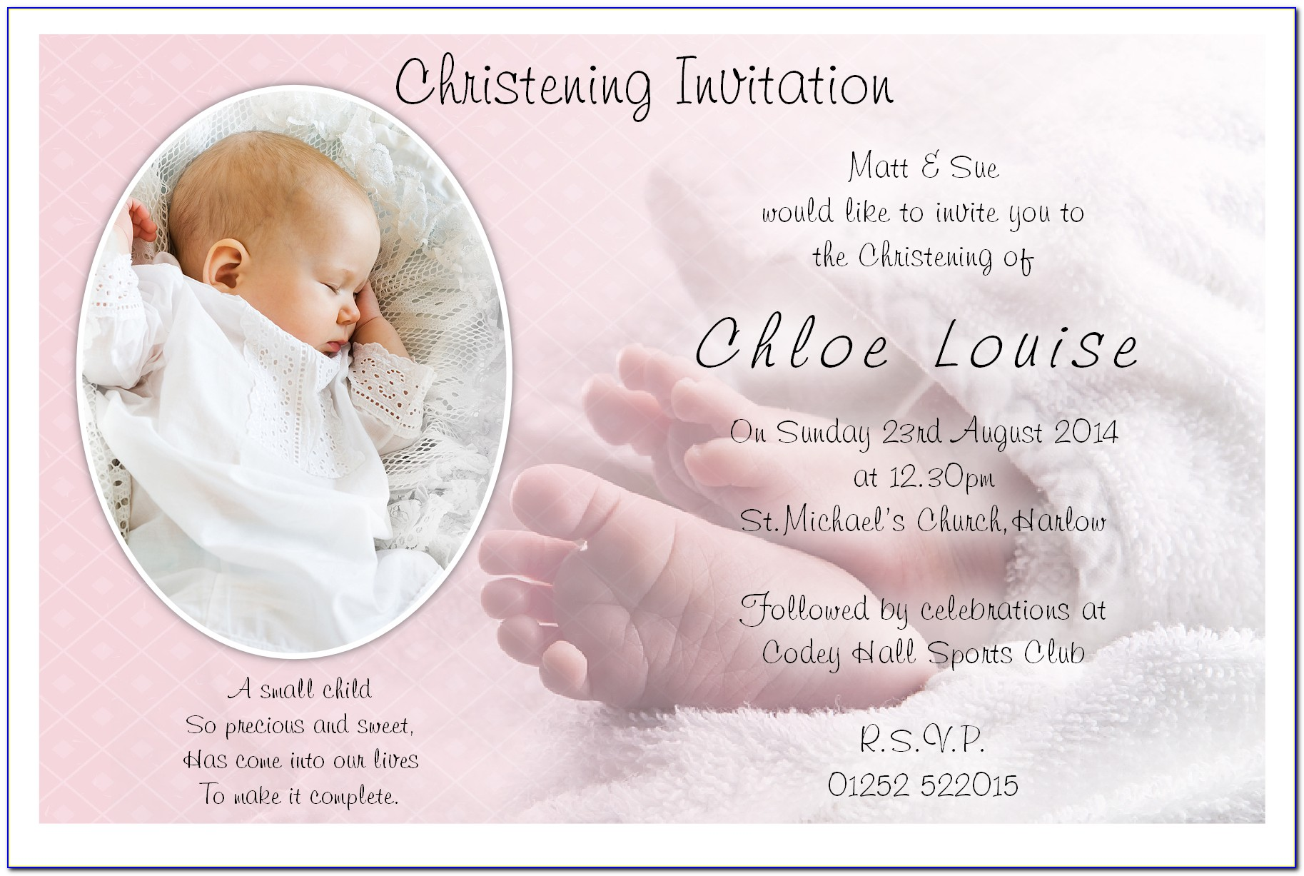 Creating A Christening Invitation