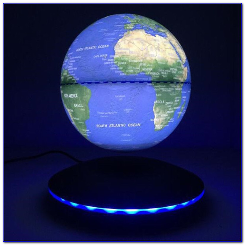 Creative C Shape Magnetic Levitation Floating Globe World Map