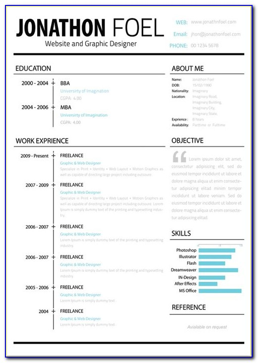 Creative Resume Template Free Download Word