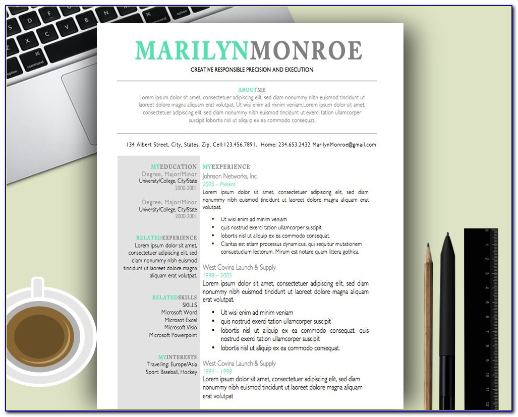 Creative Resume Templates Word Doc Free Download
