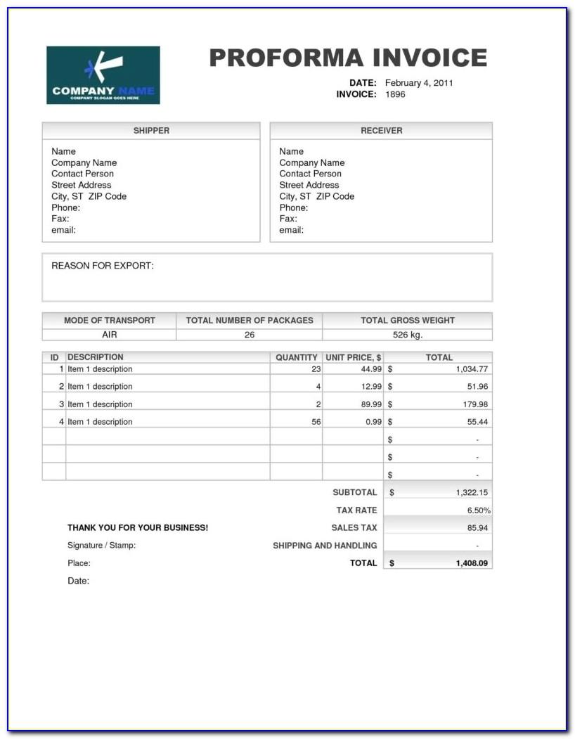 Credit Card Invoice Form
