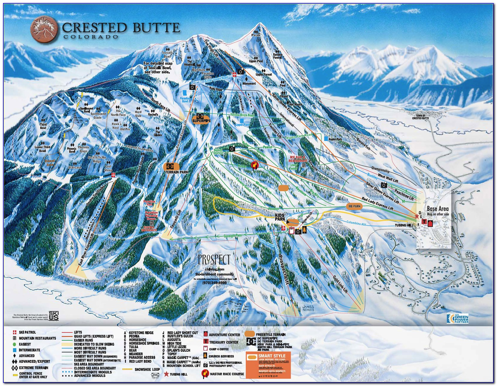Crested Butte Accommodation Map