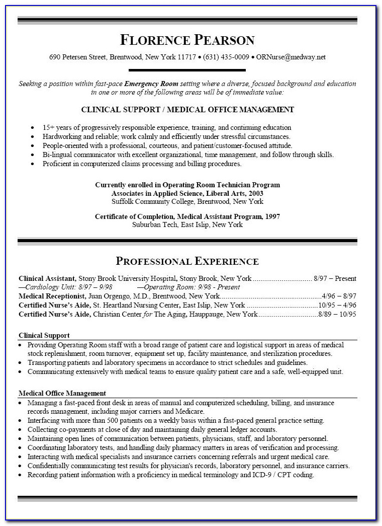 Curriculum Vitae Sample For Nurses