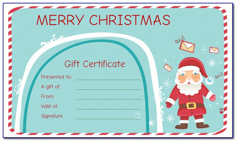 Custom Gift Certificate Template Free