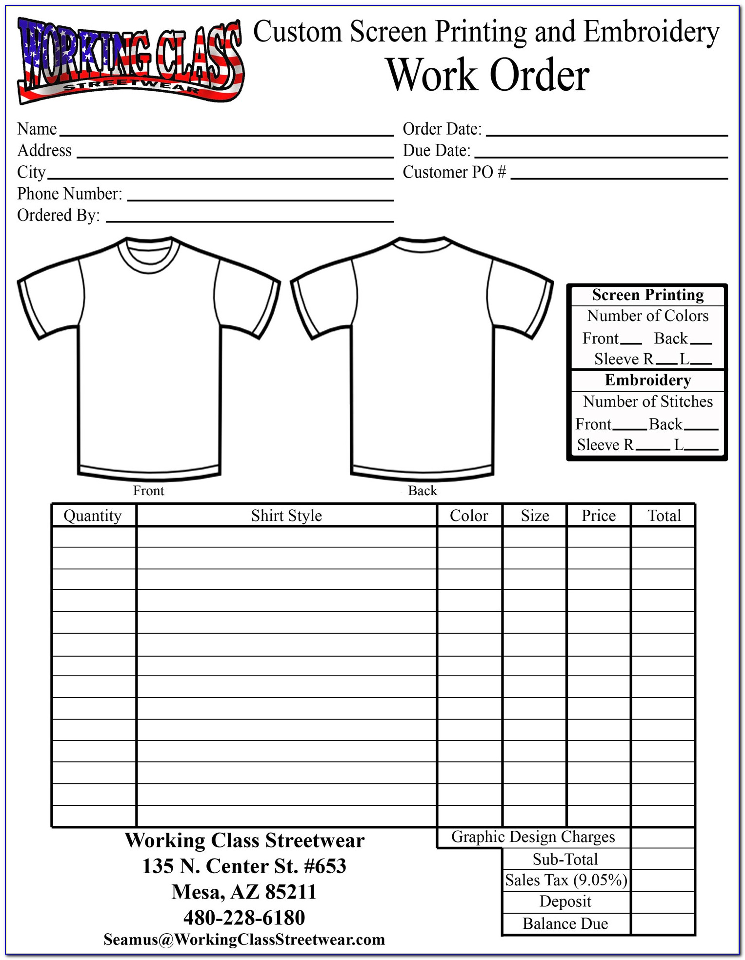 Custom Shirt Order Form Template Vincegray2014